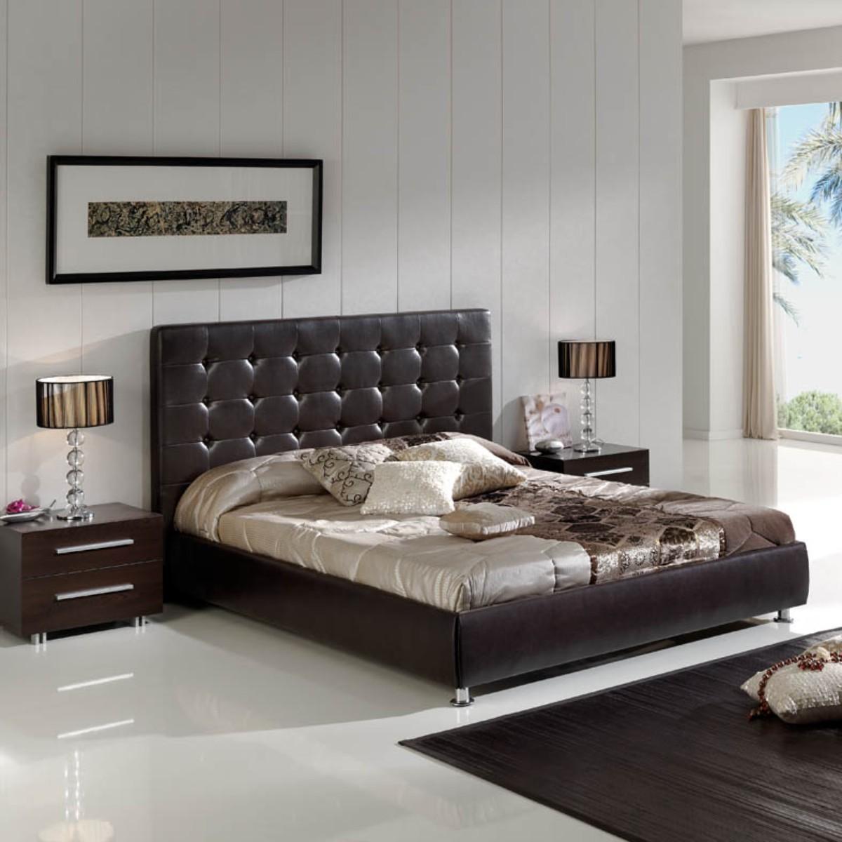 polsterbett casablanca kunstleder braun 180 x 200 cm. Black Bedroom Furniture Sets. Home Design Ideas