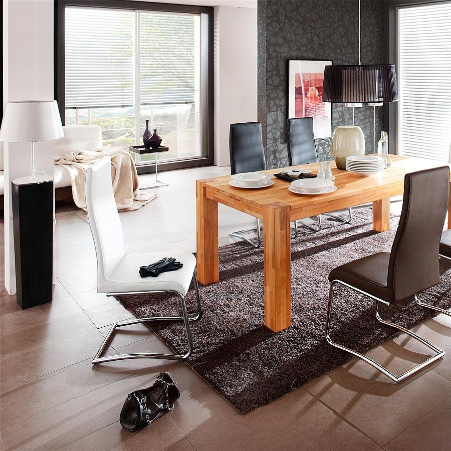 schwingstuhl ricky 4er set in kunstleder wei. Black Bedroom Furniture Sets. Home Design Ideas