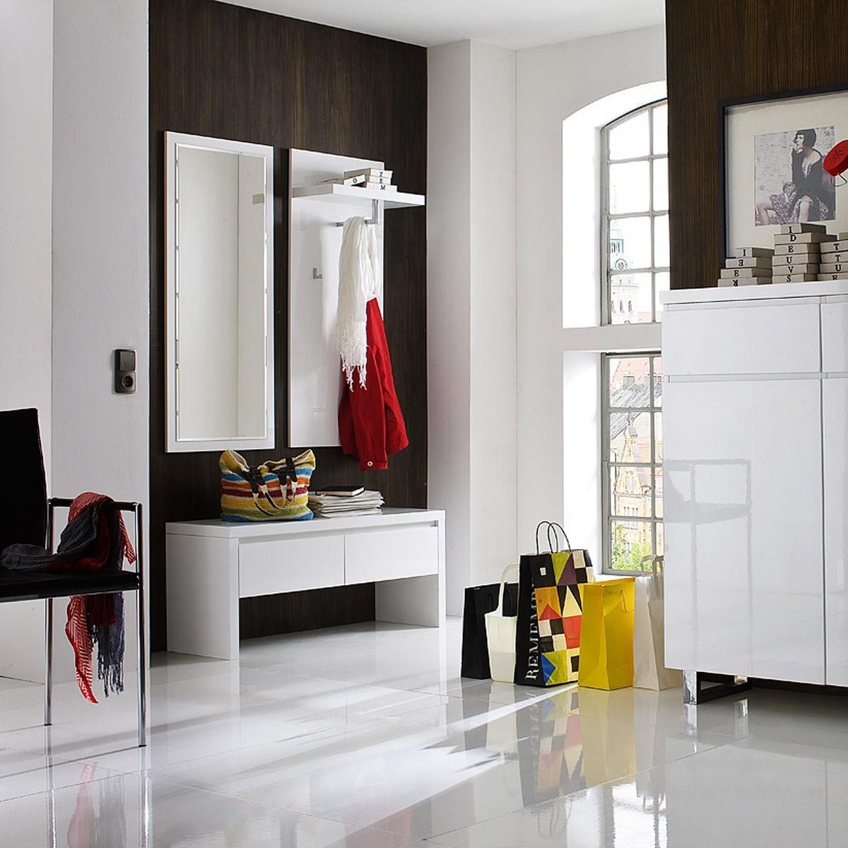 Garderobe 4 tucker in hochglanz lack wei - Garderobe huizen van de wereld ...