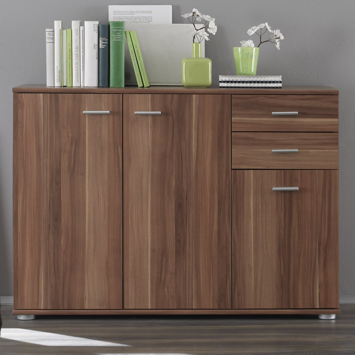 Sideboard baltimore nussbaum finest sideboard nussbaum for Sideboard hochglanz