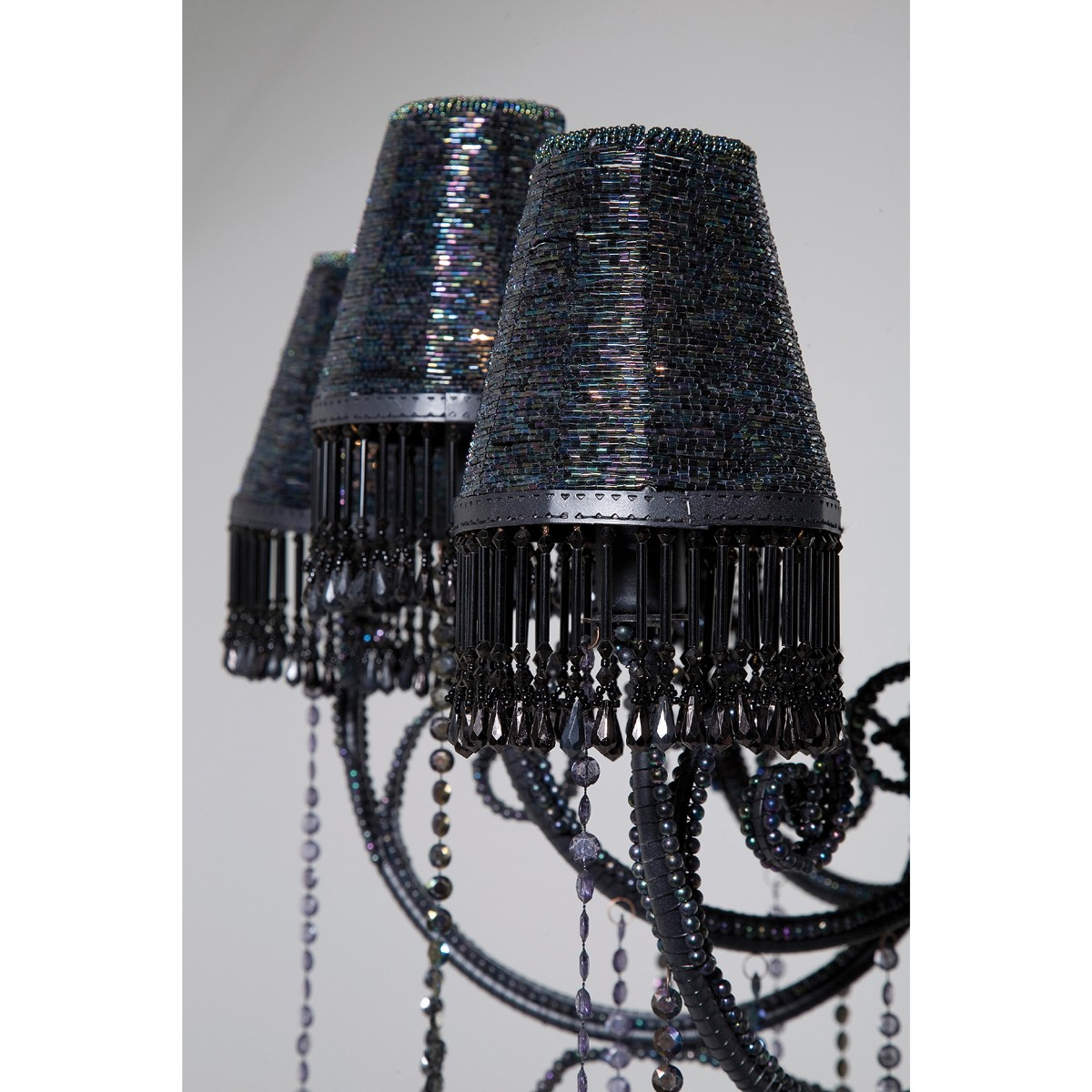 kare design kronleuchter glitter mit 10 lampenschirmen. Black Bedroom Furniture Sets. Home Design Ideas