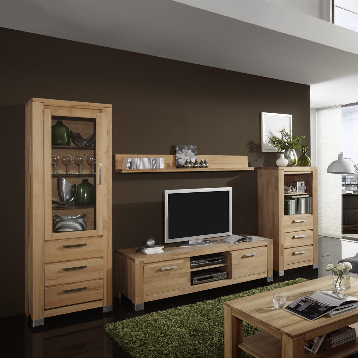 wohnzimmer und esszimmer. Black Bedroom Furniture Sets. Home Design Ideas