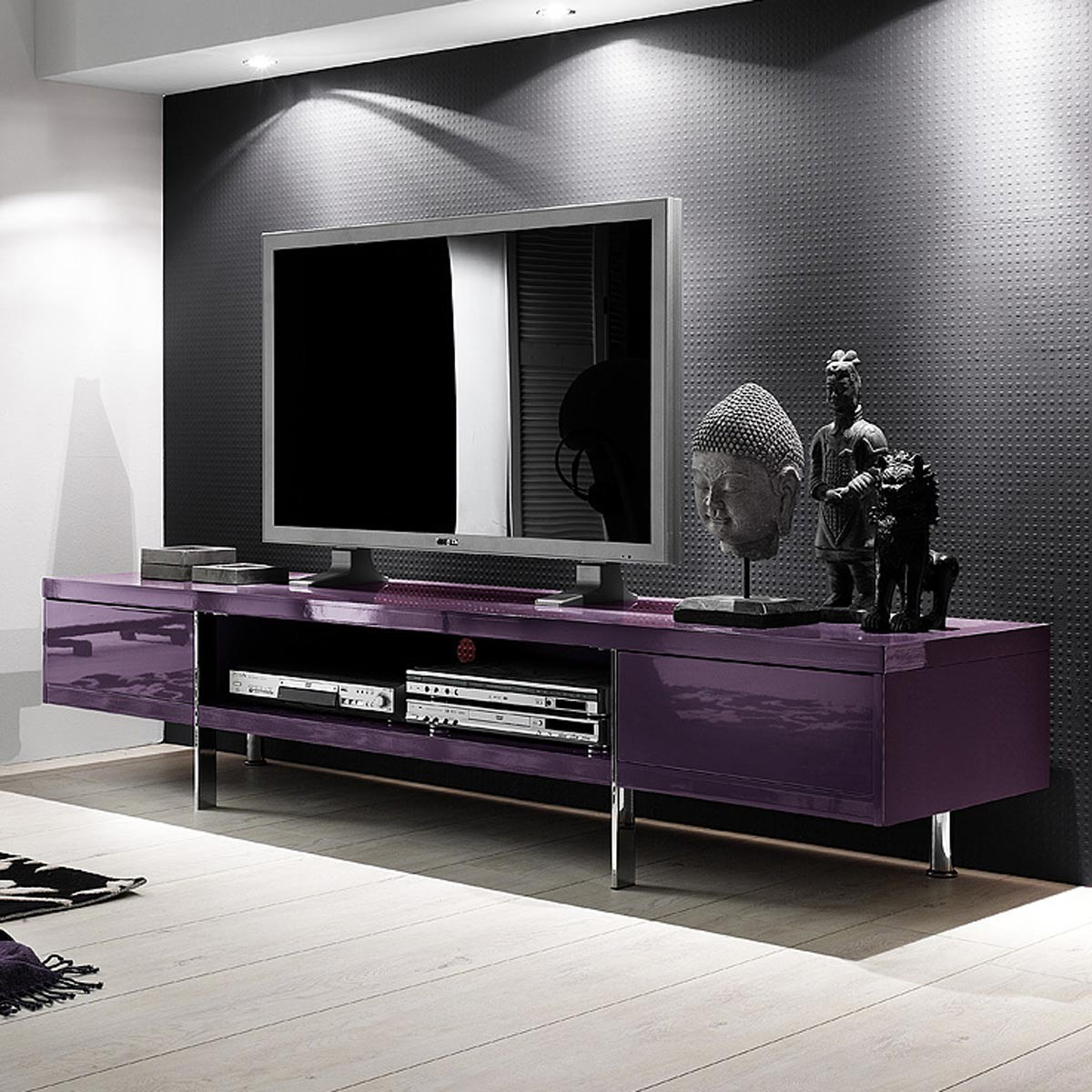 lowboard maersta aus recycling teak holz 4 schubladen b2b trade. Black Bedroom Furniture Sets. Home Design Ideas