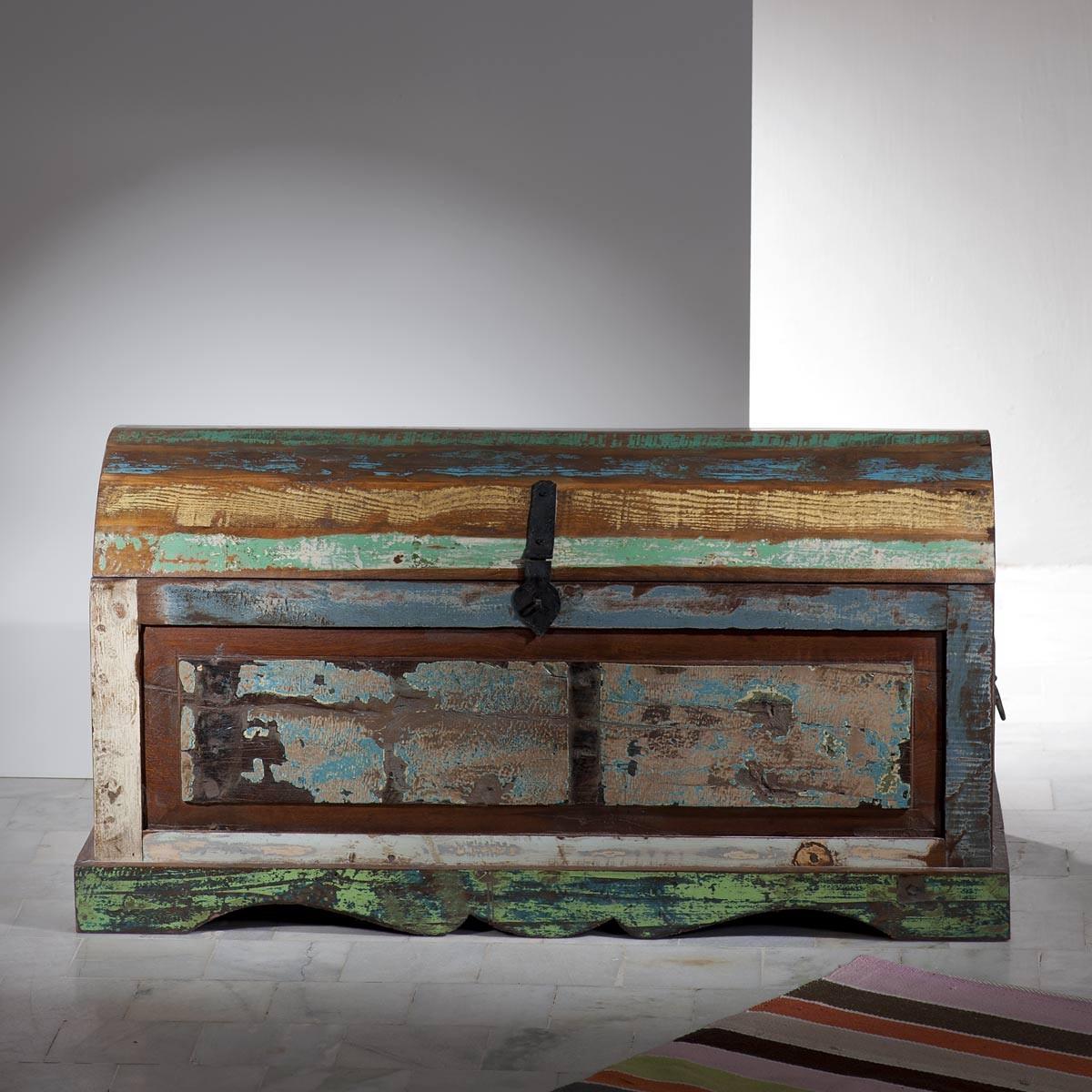 22398 truhe vintage altholz bunt. Black Bedroom Furniture Sets. Home Design Ideas