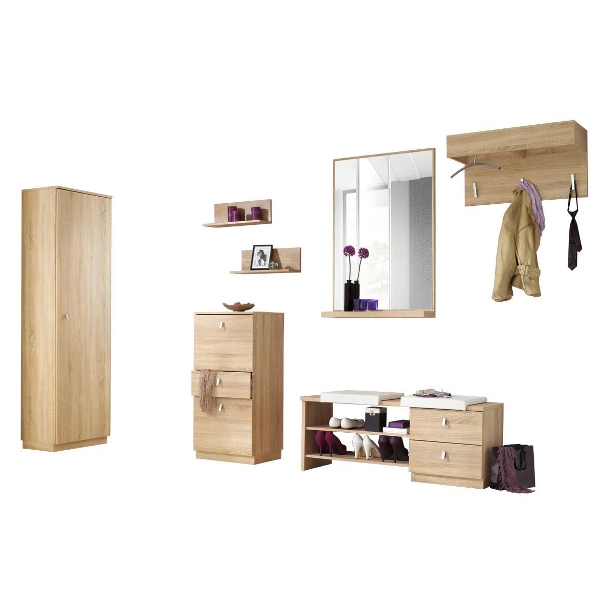 garderoben set gornl nd 6 teilig in eiche s gerau. Black Bedroom Furniture Sets. Home Design Ideas