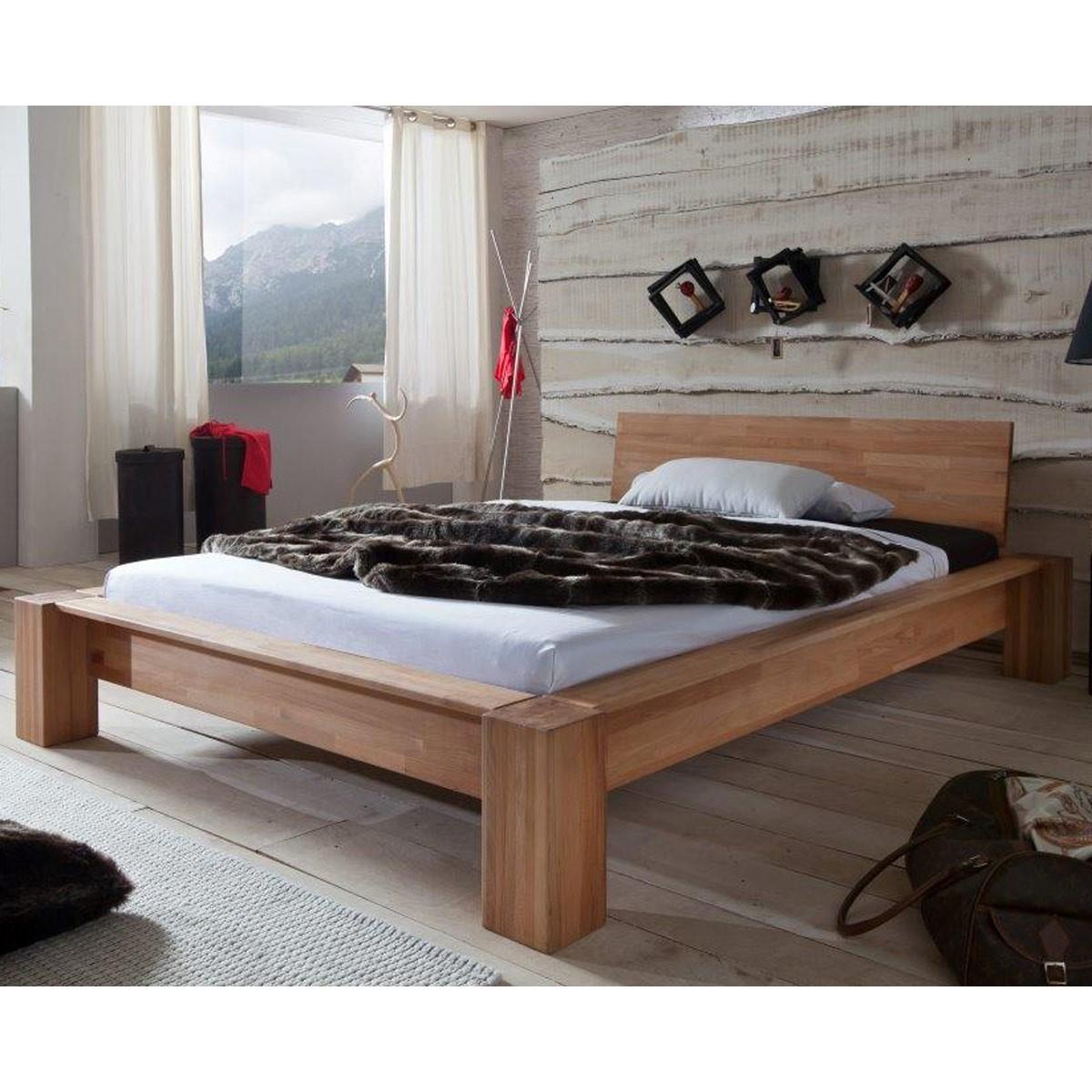 bett luzia 180 x 200 cm in kernbuche massiv ge lt. Black Bedroom Furniture Sets. Home Design Ideas