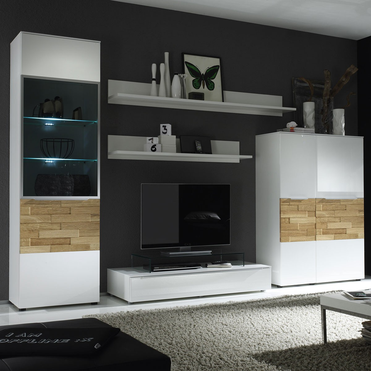 massivholzmobel eiche modern lowboard m bel und heimat. Black Bedroom Furniture Sets. Home Design Ideas