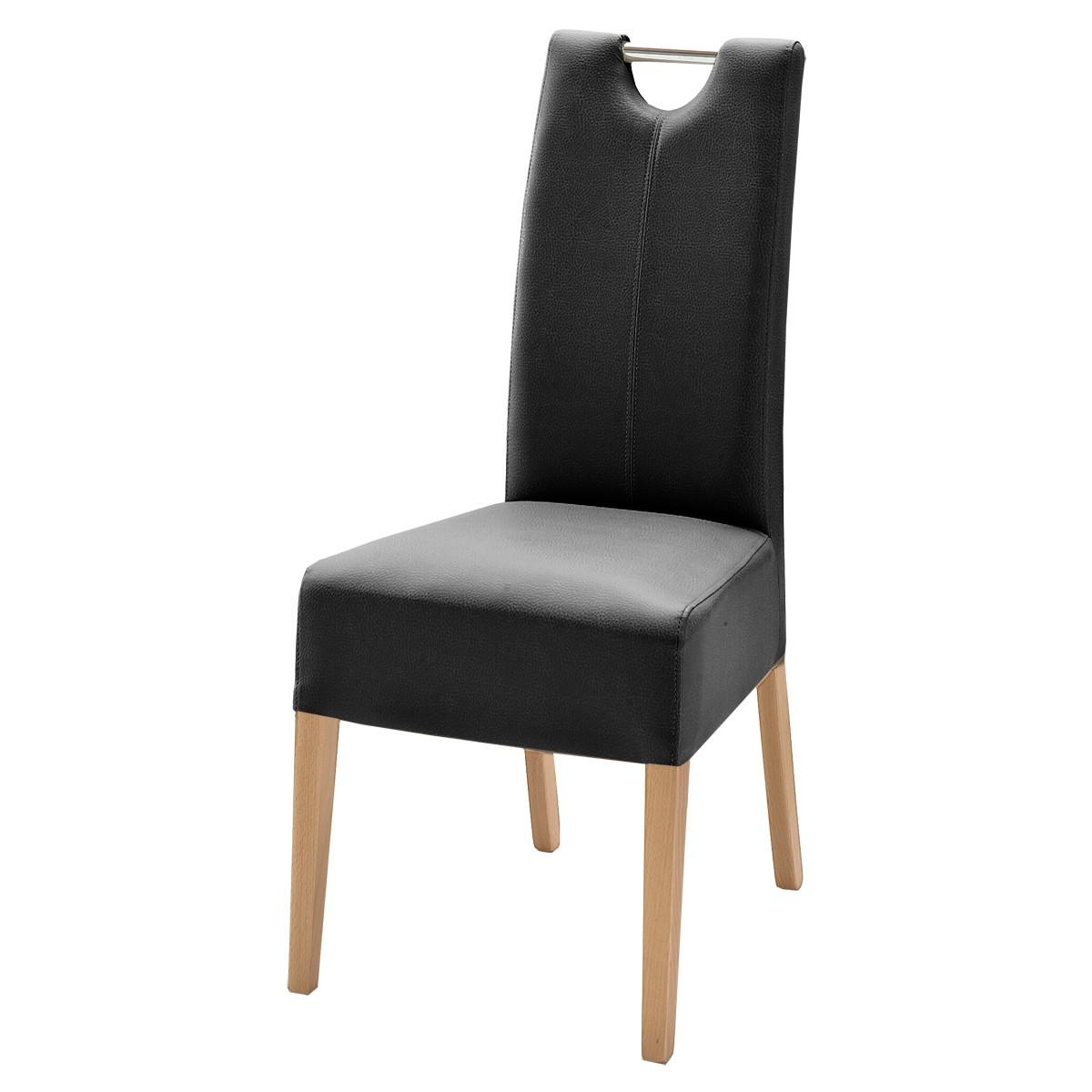 polsterstuhl malambo 2er set in kunstleder schwarz. Black Bedroom Furniture Sets. Home Design Ideas