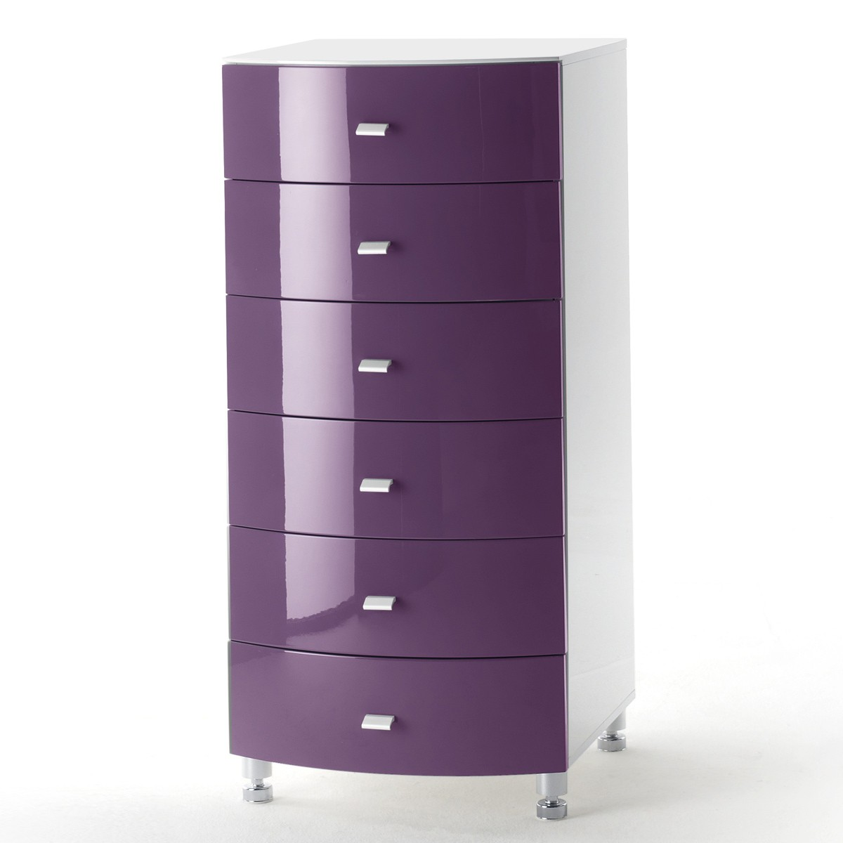kommode lucio in hochglanz purple lila und wei. Black Bedroom Furniture Sets. Home Design Ideas
