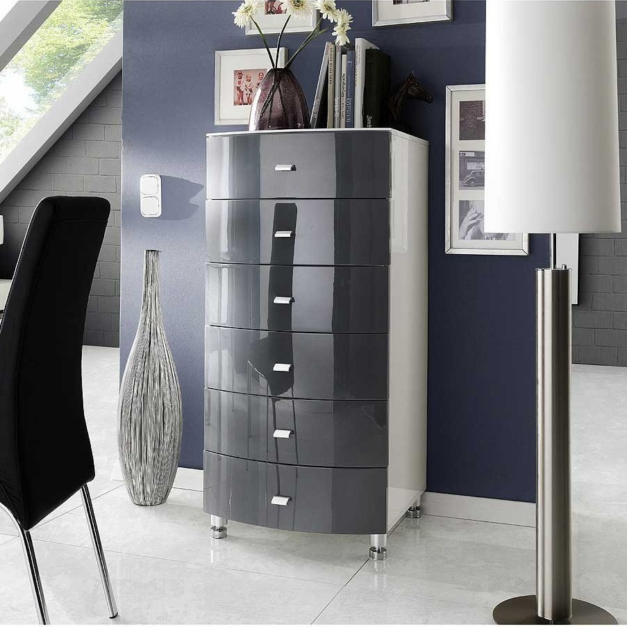 kommode fino in hochglanz weiss b2b trade. Black Bedroom Furniture Sets. Home Design Ideas