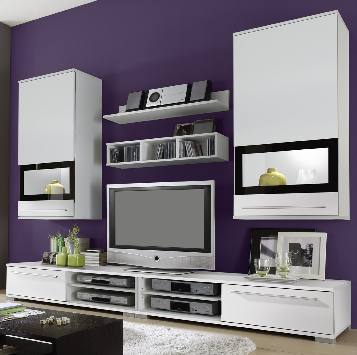 wohnwand jannis ii in weiss b2b trade. Black Bedroom Furniture Sets. Home Design Ideas