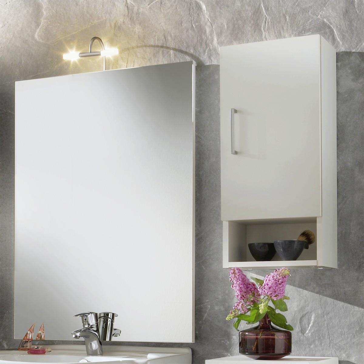 Badezimmer Hängeschrank Weiß  Haengeschrank verfuegt hinter der